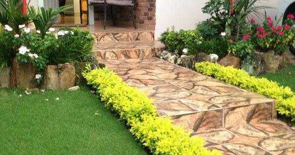 Peque o jard n tropical pinteres for Decoracion de jardines en panama