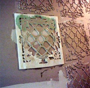 Tin Ceiling Tile Look For Almost Free With Plaster And Paint Tin