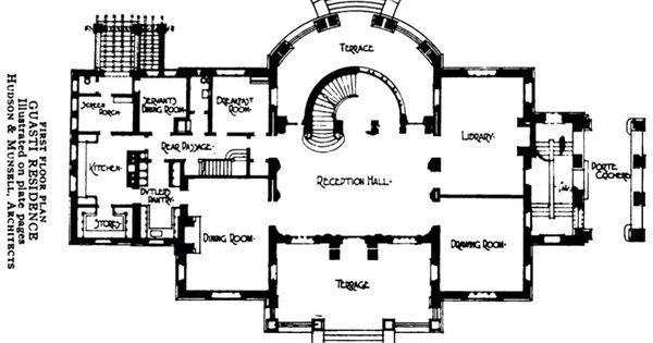 Gustavi house los angeles 1st floor gilded age for Floor plans los angeles