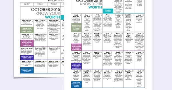 Free October 2015 devotional calendar and worksheets from ...