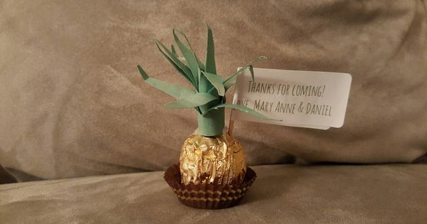 Baby Shower Favor/Souvenir/Giveaway - Pineapple using ...