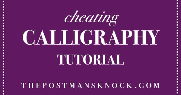 Faux calligraphy tutorial fonts bullet and handwriting