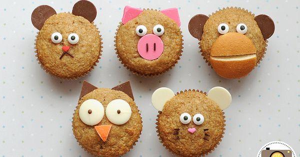 Muffins animals and cinnamon muffins on pinterest - Muffins fur kindergarten ...