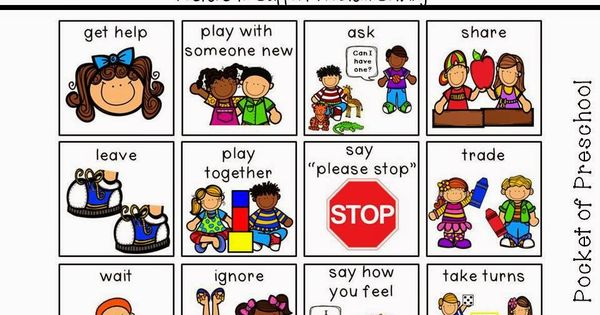 Posters to support problem solving and conflict resolution in preschool, pre-k, or