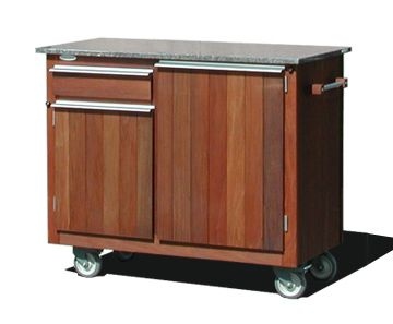 Mobile Outdoor Food Service Cart Island Outdoor Food Grill Table Outdoor