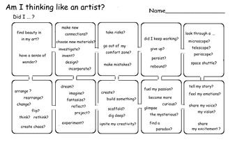 Art Is Am I Thinking Like An Artist Choice Rubric 1 Printable Pagea Big Question In Choice Art Is How To Assess If Yo Flow Chart Art Critique Artist