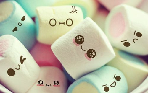 #kawaii marshmallow faces sugar perfectlypopcorn sweet