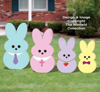 Easter Yard Peeper Family Woodcraft Pattern Easter Yard Art Wood Yard Art Easter Crafts