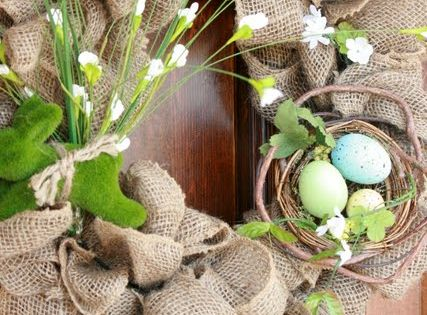 Burlap Wreath tutorial and I was looking for a spring wreath idea!