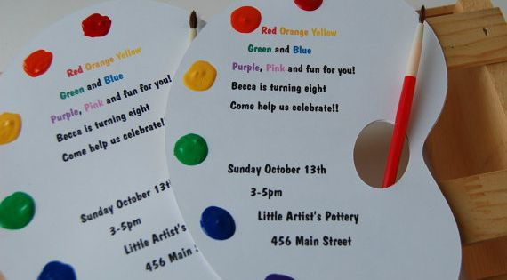 Little Artist Birthday Party Invitation Party Ideas – Artist Party Invitations