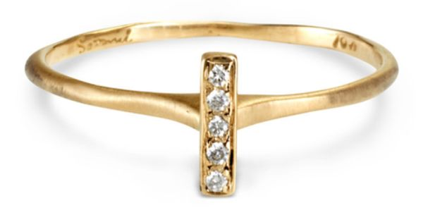 Satomi Kawakita Diamond Bar Ring Insert Heart Eyed Emoji Here Engagement Rings Affordable Geode Earrings Jewelry Inspiration