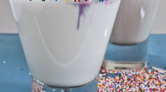 Cake Batter Martinis adapted from grin and bake it makes a single