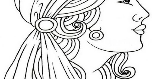Quilling Line Art : Gypsy line drawing woman pinterest embroidery