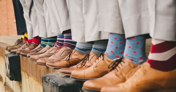 Groomsmen socks at Collin Christy's Wedding photos shot by Hitch and Sparrow