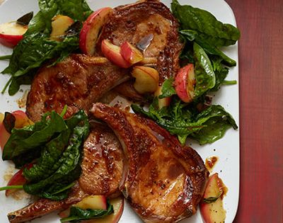 Pork Chops with Apples and Cider Pan Sauce | Recipe | Pork Chops, Pork ...