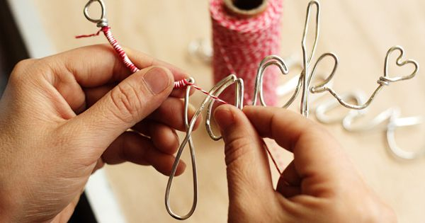 CHRISTMAS - DIY wire names as ornaments or gift tags for Christmas.