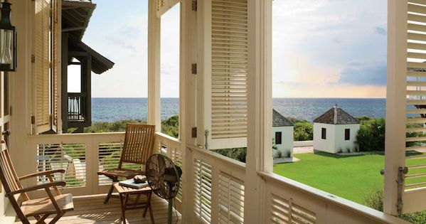Above shutters surround a deck offering unlimited views for Privacy shutters for deck