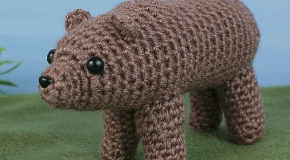 Amigurumi Animals Susan Yeates : Brown / Grizzly Bear amigurumi PDF CROCHET PATTERN by ...