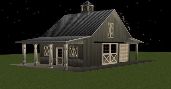 horse barn ideas | Stall Horse Barn Plan with loft - Barn ...