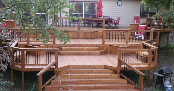 The complete guide about multi level decks with 27 design for Decoraciones de patios y terrazas
