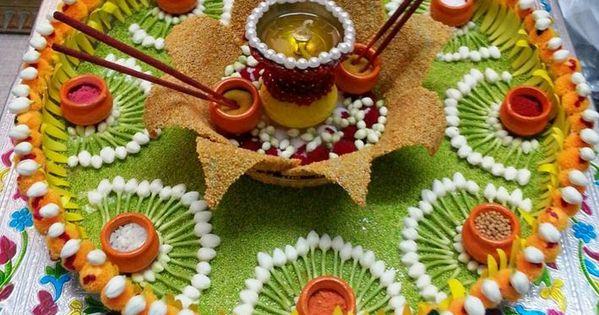 Aarti thali decoration ideas for ganpati ganpati for Aarti decoration pictures