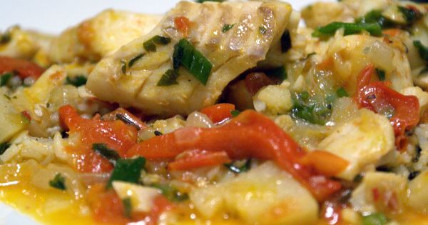Cod Stew with Vegetables, Red Palm Oil and Herbs (Moceqa) | Food: Red ...
