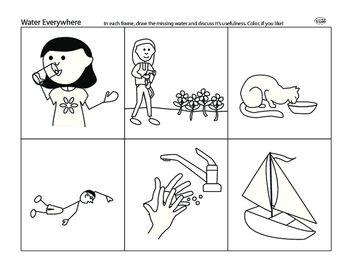 Water Everywhere | Science Worksheets | Kindergarten ...