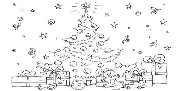 470 Disegni Di Natale Da Colorare Fiori Disegnati Da Colorare
