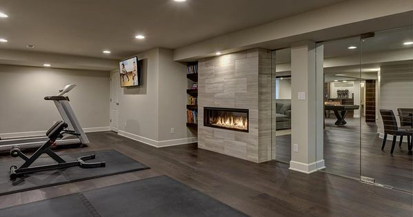 Basement Fireplace Gym Exercise Game And Play Rooms Pinterest Basements Gym And Finished
