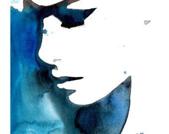 Sleeping Alone Imprime A Partir D Une Aquarelle Originale Et D