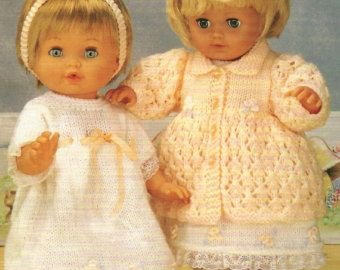 Vintage Doll Reborn Clothes Knitting Pattern 1037 12 16 20 Inches Pdf Knitting Pattern Doll Clothes Doll Clothes American Girl Knitting Patterns