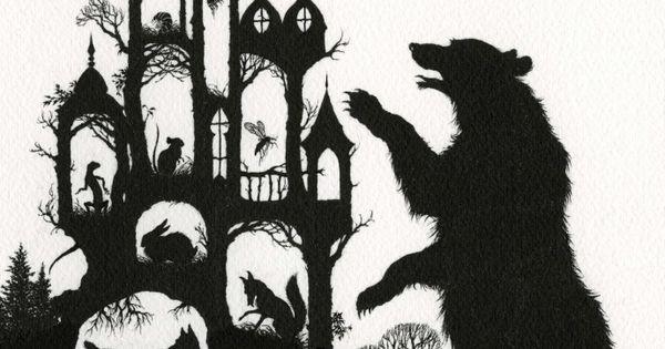 """I'm Rumbling Thunder! I'll tumble you under! I'm Bear Thicklegs!"" Illustration for"