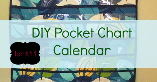 Diy Calendar Homeschool : Diy pocket chart calendar for use outdoor fabric