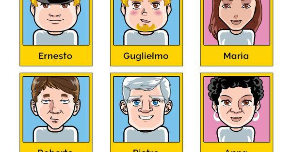 tutte le schede dei personaggi del gioco da tavola