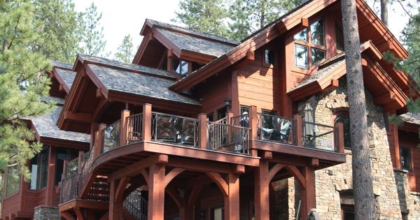 A log cabin castle! Love it!