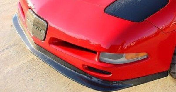 97 04 Chevrolet Corvette C5 Zr1 Styled Front Splitter Non Vented Carbon Fiber
