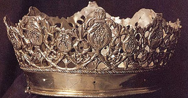 Crown of Queen Isabella I, Castile (late 15th c.; silver ...