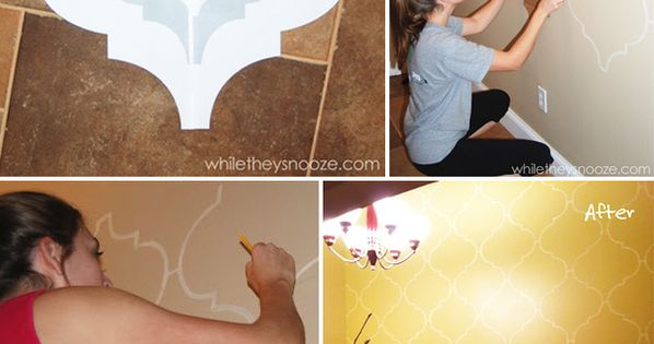 Make Your Own Moroccan Stenciled Wallpaper 39 Easy