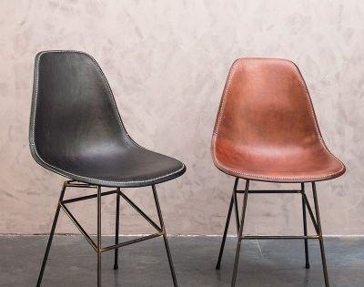 Design eetkamerstoelen leer sol y luna immo pinterest stoelen leer en stoelen voor de - Stoelen leer en hout ...