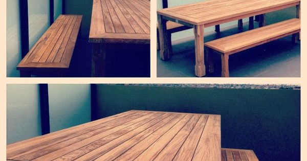 Timber outdoor table 39 our house in the middle of the street 39 home pinterest Timber home office furniture brisbane