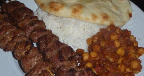 That S What She Fed Grilled Lamb Kebabs And Chana Masala Kebab Lamb Kebabs Grilled Lamb