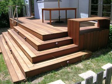 Modern Porch Design Ideas Pictures Remodel And Decor Page 5 Deck Stairs Deck Steps Landscaping Around Deck