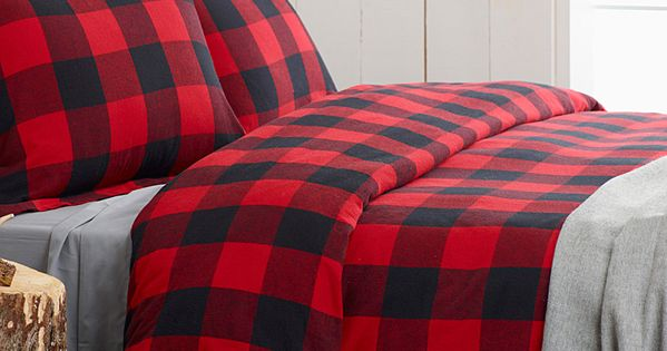 Red And Black Buffalo Plaid Bedding Light Grey Sheets