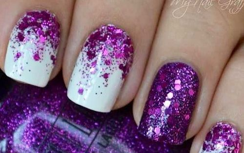 Purple Glitter Gradient nail polish
