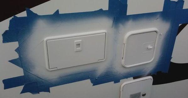 Refinish Yellowing Exterior Rv Hatches And Trim Using Spray Paint Rv Spray Painting And Sprays