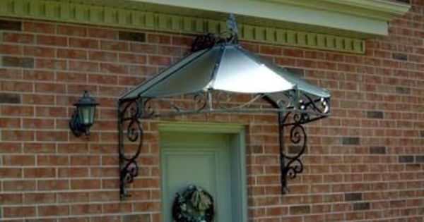 Glass Wrought Iron Door Awning Google Search