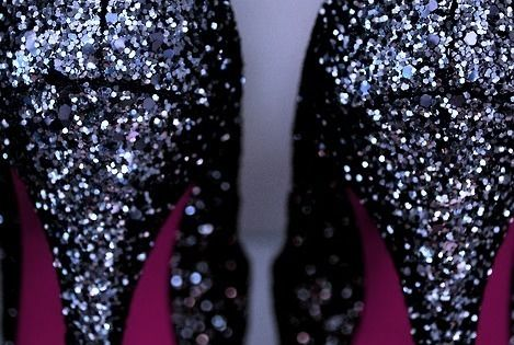 Louboutin black glitter heels | perfect for Tampa Bay Buccaneers fan