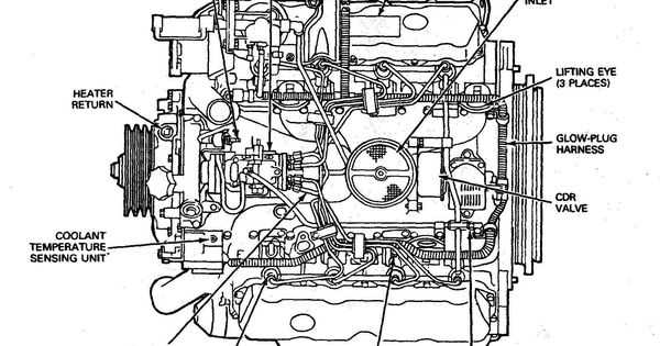 ford 7 3 engine parts diagram