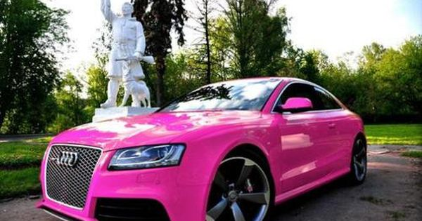pink audi love it and lets face it pink is my favorite color love it pinterest. Black Bedroom Furniture Sets. Home Design Ideas
