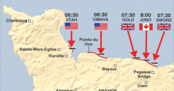 d day beaches location